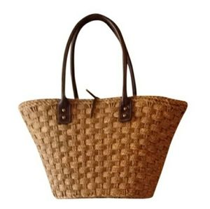J.Crew Straw Beach Bag